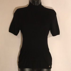 Escada Black Stretch Short Sleeve
